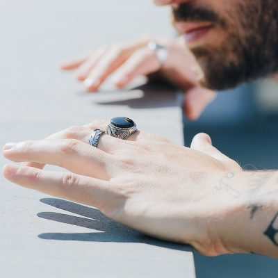 Photo Worn Eagle Ring