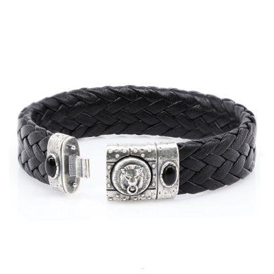 Porta Romana Leather Bracelet Open
