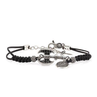 Roman Ax Bracelet Black