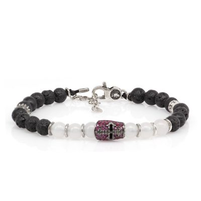 Bracelet Knight Stones Ruby
