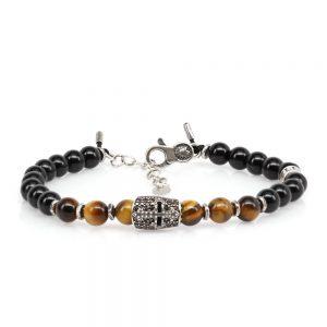 Bracelet Knight Tiger's Eye Stone
