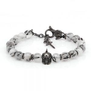 Rutilated Quartz Gladiator Bracelet