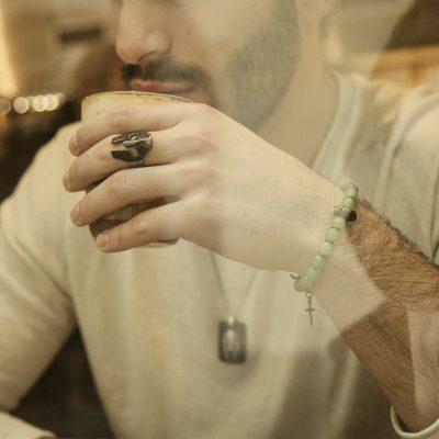 Photo Worn Avventurine Gladiator Bracelet