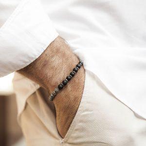 Terrestrial Globe Silver Bracelet