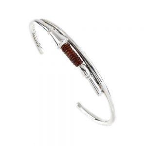 Lance Leather Joust Bracelet