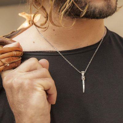 Photo Worn Gladiator Nail Necklace