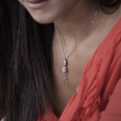 Photo Worn Golden Lance Necklace