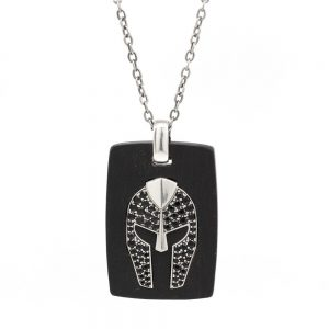 Necklace Ebony Gladiator Helmet