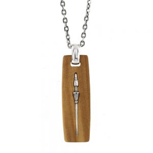 Olive Wood Lance of the Joust Necklace