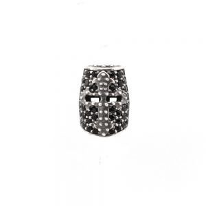 Knight Helmet Earring Stones – Black