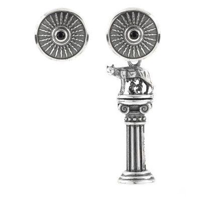 Asymmetrical Roma Caput Mundi Earrings
