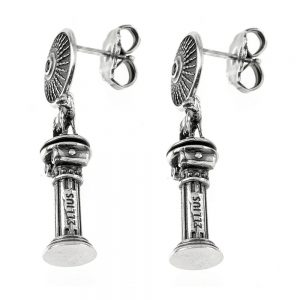 Symmetrical Roma Caput Mundi Earrings