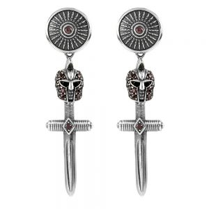 Female Gladiator Armor Symmetrical Earrings