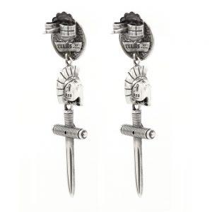 Female Gladiator Symmetrical Earrings