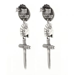 Female Gladiator Asymmetric Earrings