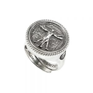 Vitruvian Man Ring