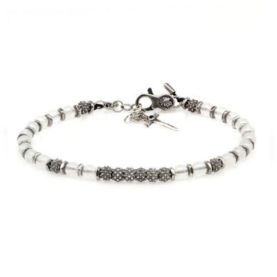 Venus Bracelet White Jade Stones