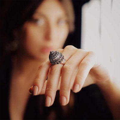 ellius anello cupola san pietro roma argento