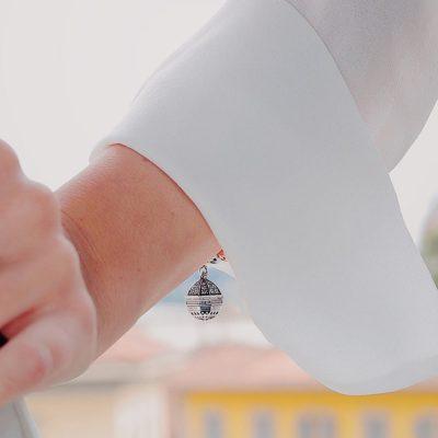 Indossato Bracciale Cupola Assisi Gioiello