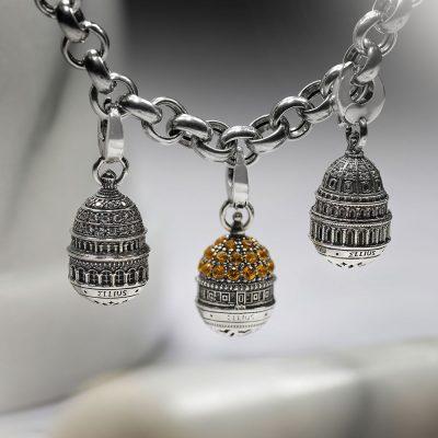 bracciale componibile rolo charm cupola roccia gerusalemme parigi e washington