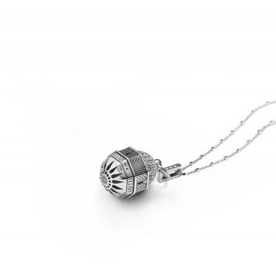 Dome Church of the Ascension in Jerusalem Rose Window Necklace