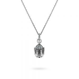 Minimal Dome Necklace Maria SS. Addolorata | Castelpetroso