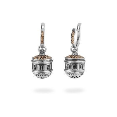 Dome of St.Maria of Suffragio in Aquila Earrings
