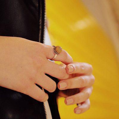 Indossato anello cupola roccia gerusalemme ellius gioiello