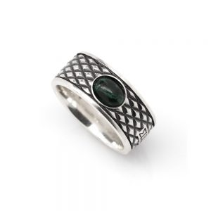 Malachite Snake Ring