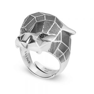 Panther Faceted Ring