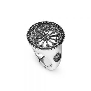 St. Vigilio Trento Rose Window Ring