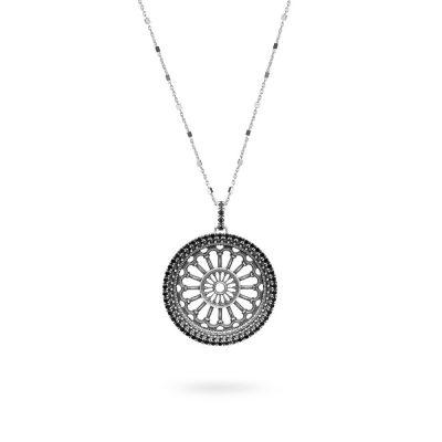 collana rosone basilica matera donna gioielli argento ellius