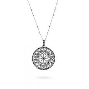 St. Pietro Viterbo Rose Window Necklace