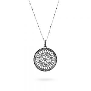 St. Rufino Assisi Rose Window Necklace