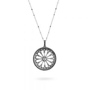 St. Vigilio Trento Rose Window Necklace