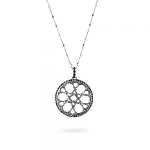 Synagogue Trieste Rose Window Necklace