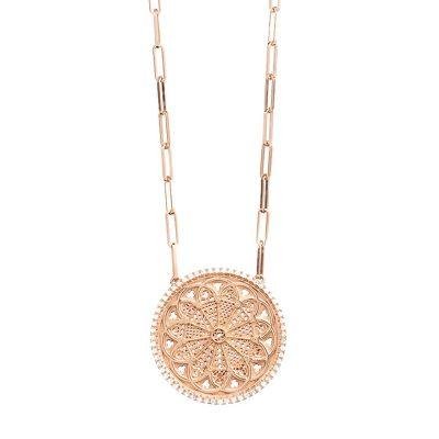 collana rosone troia RS grande maglia larga gioielli argento ellius
