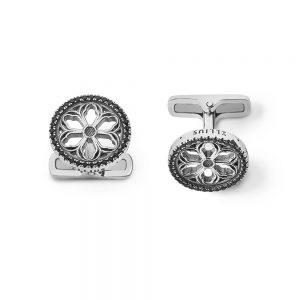 Sorrow of Castelpetroso Rose Window Cufflinks