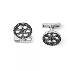 Synagogue Trieste Rose Window Cufflinks