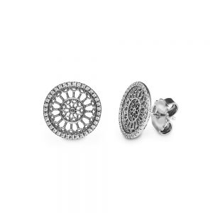 Basilica Of Collemaggio L'Aquila Rose Window Earrings