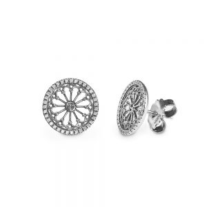 St. Vigilio Trento Rose Window Earrings