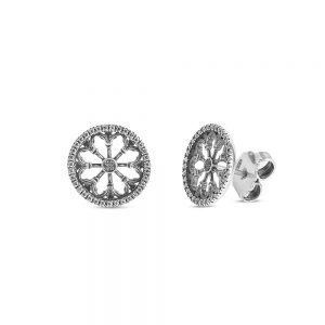 St. Antonio Padova Rose Window Earrings