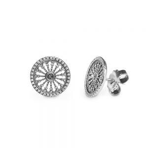 S. Maria Assunta Siena Rose Window Earrings