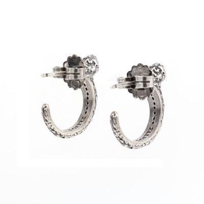orecchini donna argento vulcano
