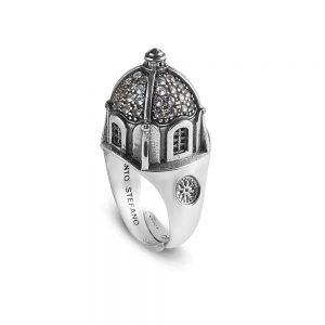 anello chiesa capri donna gioielli argento ellius