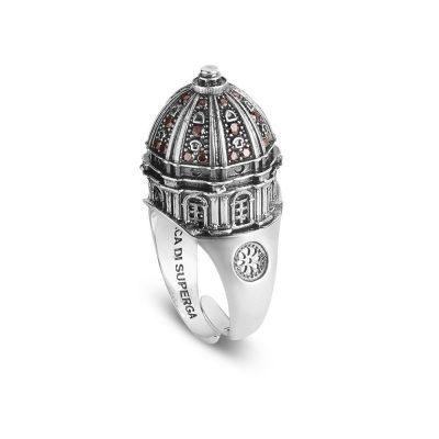 anello cupola basilica torino superga donna gioielli argento ellius