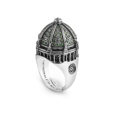 anello cupola cattedrale berlino donna gioielli argento ellius