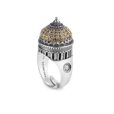 anello cupola cattedrale mosca donna gioielli argento ellius