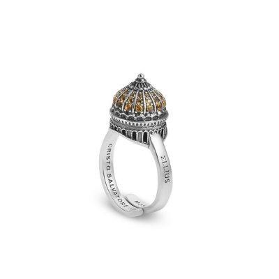 anello cupola cattedrale mosca donna gioielli argento ellius minimal
