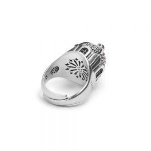 anello cupola chiesa gambo capri donna gioielli argento ellius